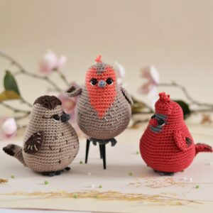 Three birds crochet pattern