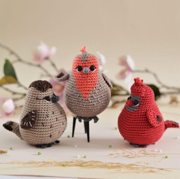 Three birds crochet pattern