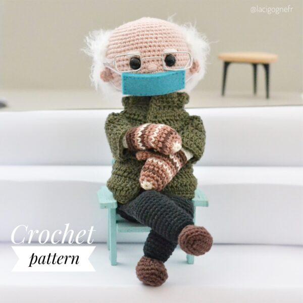 Bernie Sanders crochet doll pattern