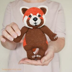 Red panda crochet pattern