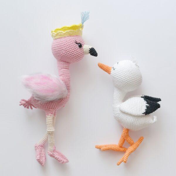 Flamingo crochet pattern , flamingo ursery decor