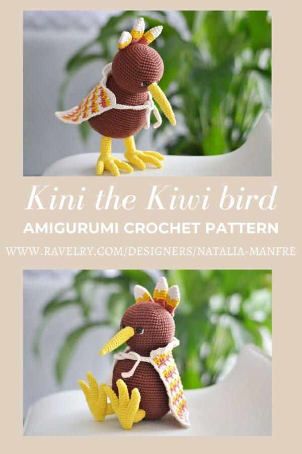 Kiwi bird crochet pattern