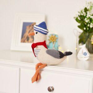 mister seagull crochet pattern , nautical home decor , baby shower , baby sprinkle